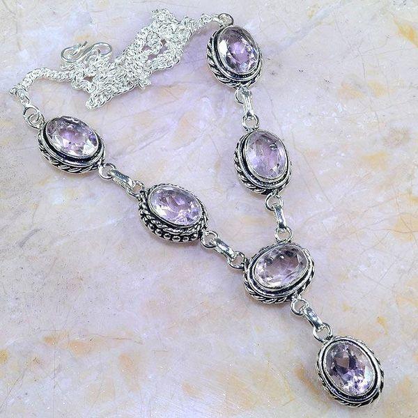 Tpz 413a collier sautoir parure topaze rose pink bijou argent 925 vente achat