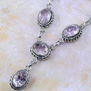 Tpz 413b collier sautoir parure topaze rose pink bijou argent 925 vente achat