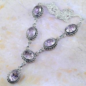Tpz 413d collier sautoir parure topaze rose pink bijou argent 925 vente achat