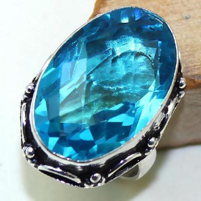 Tpz 417a bague t56 chevaliere medievale topaze bleue suisse bijoux argent 925 vente achat
