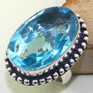 Tpz 419a bague t56 chevaliere medievale topaze bleue suisse bijoux argent 925 vente achat
