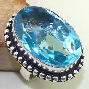 Tpz 419b bague t56 chevaliere medievale topaze bleue suisse bijoux argent 925 vente achat