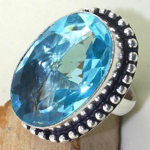 Tpz 419c bague t56 chevaliere medievale topaze bleue suisse bijoux argent 925 vente achat