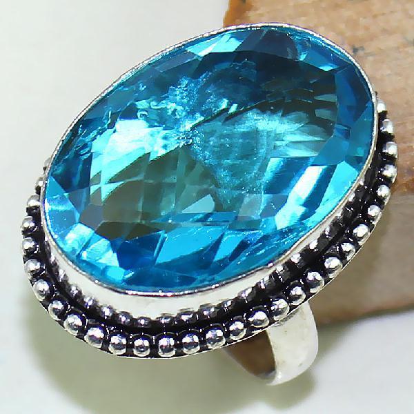 Tpz 422a bague t59 chevaliere medievale topaze bleue suisse bijoux argent 925 vente achat