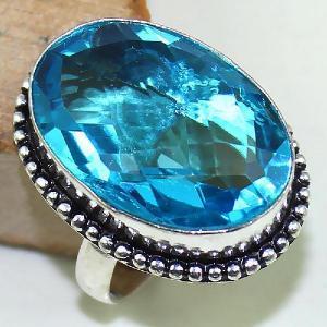 Tpz 422b bague t59 chevaliere medievale topaze bleue suisse bijoux argent 925 vente achat