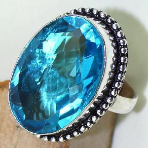 Tpz 422c bague t59 chevaliere medievale topaze bleue suisse bijoux argent 925 vente achat