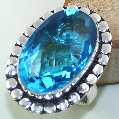 Tpz 428a bague t58 chevaliere medievale topaze bleue suisse bijoux argent 925 vente achat