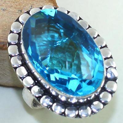 Tpz 430a bague t60 chevaliere medievale topaze bleue suisse bijoux argent 925 vente achat