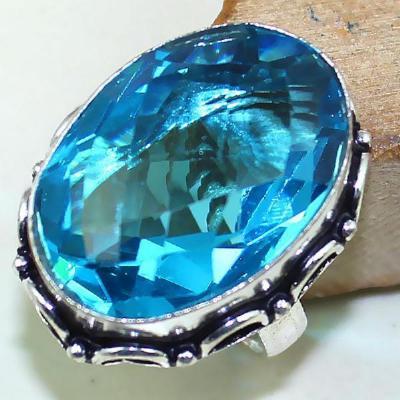 Tpz 433a bague t57 chevaliere medievale topaze bleue suisse bijoux argent 925 vente achat