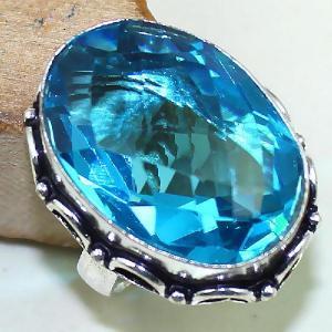 Tpz 433b bague t57 chevaliere medievale topaze bleue suisse bijoux argent 925 vente achat