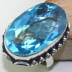 Tpz 435a bague t60 chevaliere medievale topaze bleue suisse bijoux argent 925 vente achat