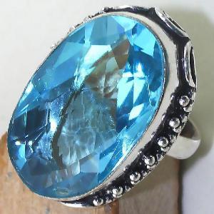 Tpz 435c bague t60 chevaliere medievale topaze bleue suisse bijoux argent 925 vente achat