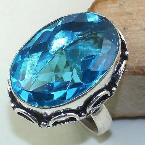 Tpz 438a bague t59 chevaliere medievale topaze bleue suisse bijoux argent 925 vente achat