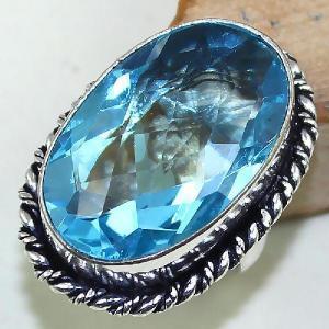 Tpz 439a bague t55 chevaliere medievale topaze bleue suisse bijoux argent 925 vente achat 1