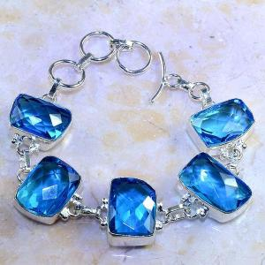Tpz 472d bracelet topaze quartz bleue tanzanite bijou argent 925 vente achat