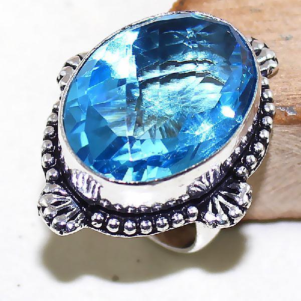 Tpz 478a bague t55 chevaliere medievale topaze bleue suisse bijoux argent 925 vente achat