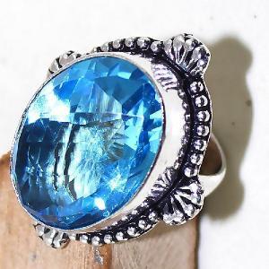 Tpz 478c bague t55 chevaliere medievale topaze bleue suisse bijoux argent 925 vente achat