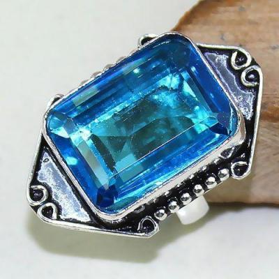 Tpz 481a bague t58 chevaliere medievale topaze bleue suisse bijoux argent 925 vente achat