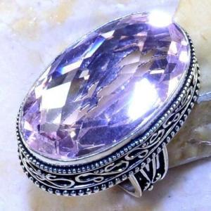 Tpz 495a bague t56 chevaliere medievale topaze rose pink bijoux argent 925 vente achat