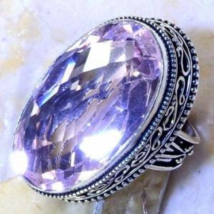 Tpz 495c bague t56 chevaliere medievale topaze rose pink bijoux argent 925 vente achat