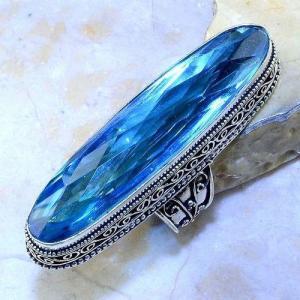 Tpz 497a bague t58 chevaliere medievale topaze bleue suisse bijoux argent 925 vente achat