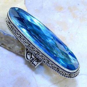 Tpz 497b bague t58 chevaliere medievale topaze bleue suisse bijoux argent 925 vente achat