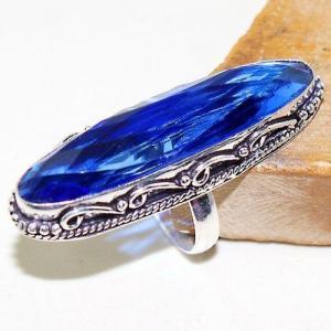 Tpz 509a bague t55 chevaliere medievale topaze bleue suisse bijoux argent 925 vente achat