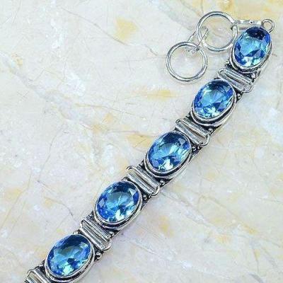 Tpz 538b bracelet topaze bleue suisse bijoux argent 925 vente achat