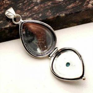 Tpz 755b pendentif pendants poison 11gr topaze bleu suisse bijou argent 925 vente achat