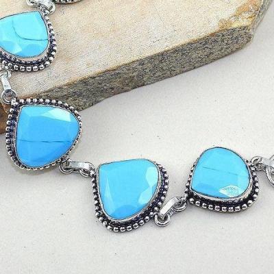 Tqa 001b bracelet turquoise bleue achat vente bijou pierre naturelle