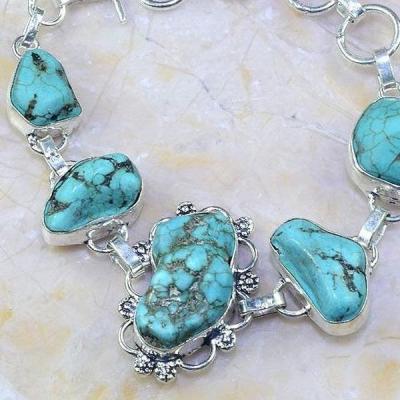 Tqa 005c bracelet turquoise bleue achat vente bijou pierre naturelle argent 926