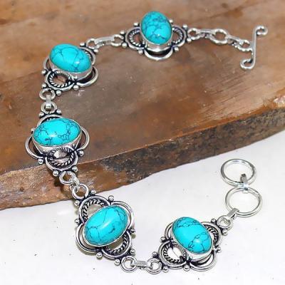Tqa 019a bracelet turquoise bleue achat vente bijou pierre naturelle argent 925