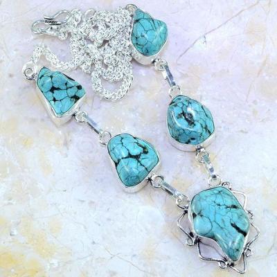 Tqa 020a collier sautoir parure turquoise bleue corail achat vente bijou pierre argent 926