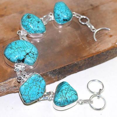 Tqa 023a bracelet turquoise bleue achat vente bijou pierre naturelle argent 925