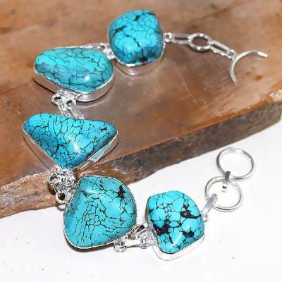 Tqa 024a bracelet turquoise bleue achat vente bijou pierre naturelle argent 925