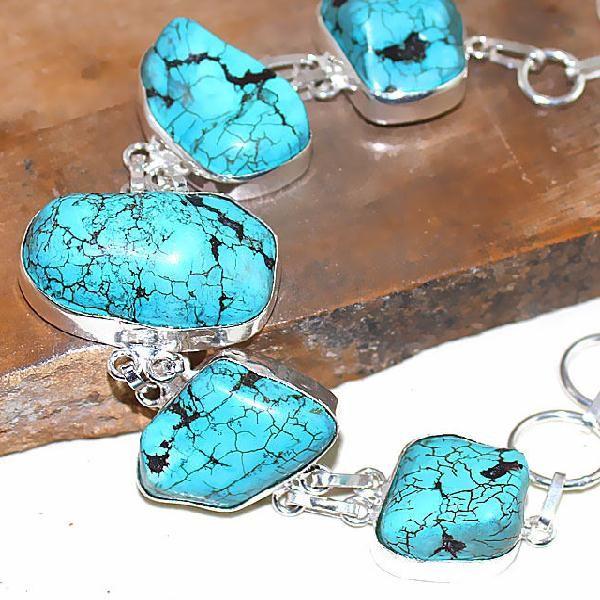 Tqa 025c bracelet turquoise bleue achat vente bijou pierre naturelle argent  925 563d9bc6f80a