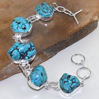 Tqa 028a bracelet turquoise bleue achat vente bijou pierre naturelle argent 925