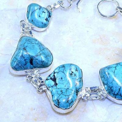 Tqa 045b bracelet turquoise bleue achat vente bijou pierre naturelle argent 925