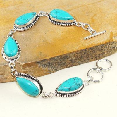Tqa 055a bracelet turquoise bleue achat vente bijou pierre naturelle argent 925 1