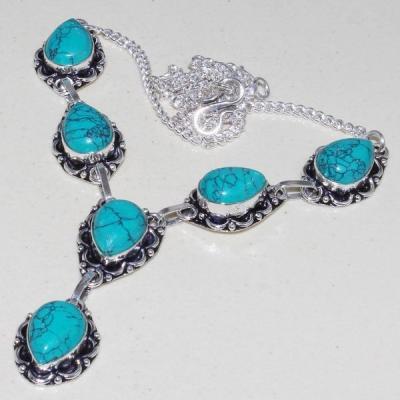 Tqa 057a collier parure sautoir turquoise bleue achat vente bijou pierre argent 925 1