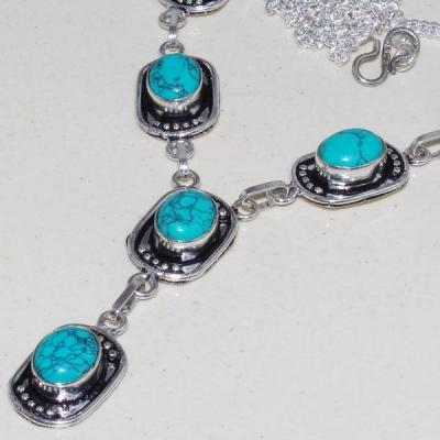 Tqa 058b collier parure sautoir turquoise bleue achat vente bijou pierre argent 925 1