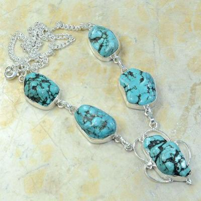 Tqa 066a collier turquoise argent 925 achat vente 1