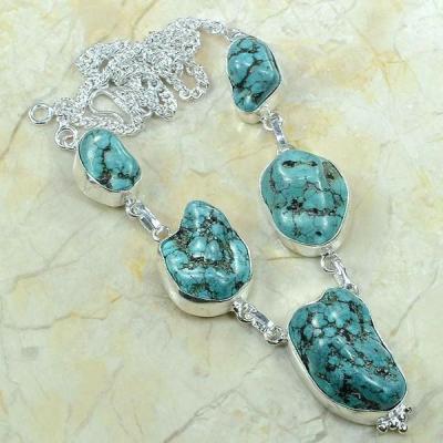 Tqa 075a collier parure sautoir turquoise achat vente bijou argent 925 1