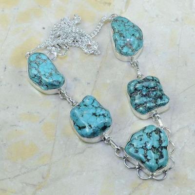 Tqa 077a collier parure sautoir turquoise achat vente bijou argent 925 1