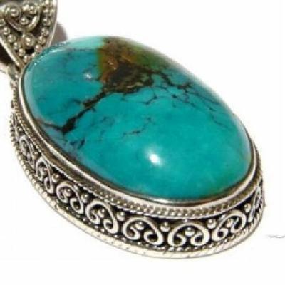 Tqa 103c pendentif pendant turquoise reiki achat vente bijou argent 925
