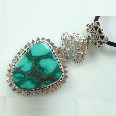 Tqa 104c pendentif pendant turquoise reiki achat vente bijou argent 925