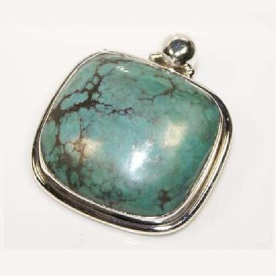 Tqa 106a pendentif pendant turquoise reiki achat vente bijou argent 925