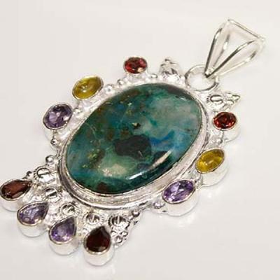 Tqa 109a pendentif pendant turquoise grenat achat vente bijou argent 925
