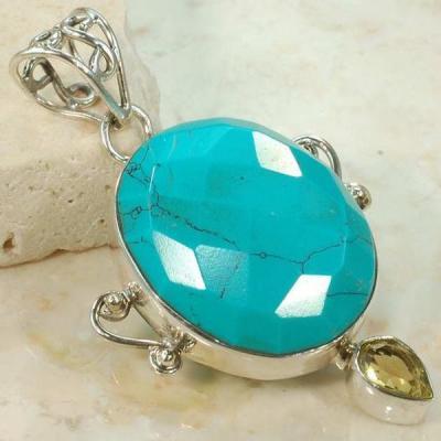 Tqa 110a pendentif pendant turquoise reiki achat vente bijou argent 925