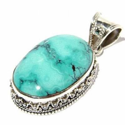 Tqa 111a pendentif pendant turquoise reiki achat vente bijou argent 925